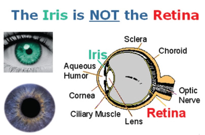 biometric patient identification system custom reference and resource center iris VS retina