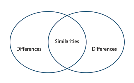 simliarities and differences essays