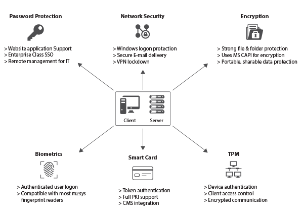 Biometric single sign on working process