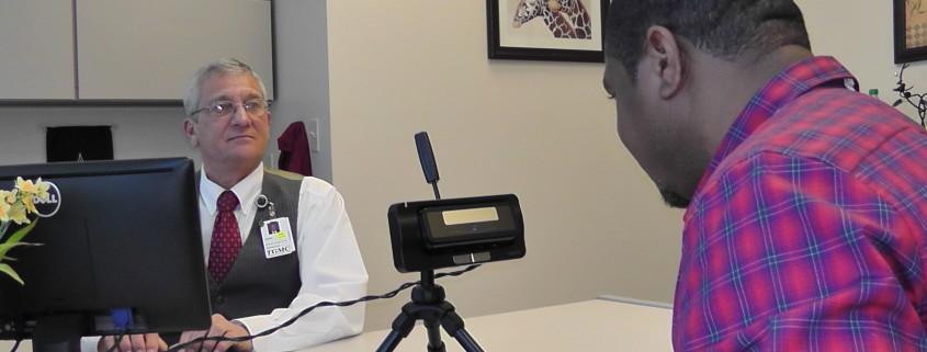 iris biometrics are hygienic for patient identification in healthcare