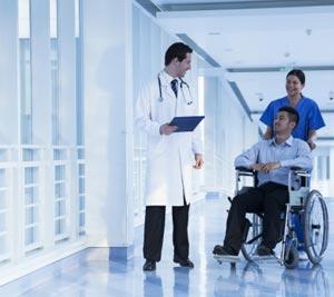 doctor patient wheelchair